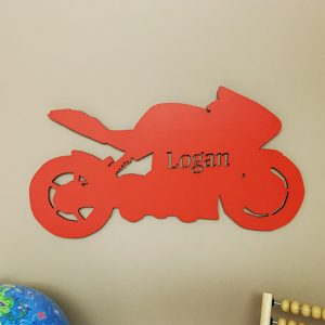 Large Motorbike Personalised Name Sign