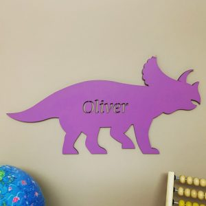 Large Triceratops Personalised Name Sign