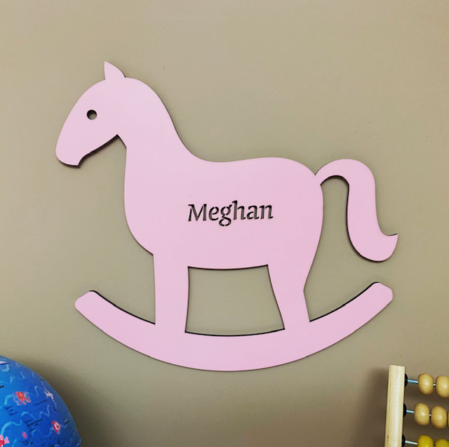 Large Rocking Horse Personalised Name Sign