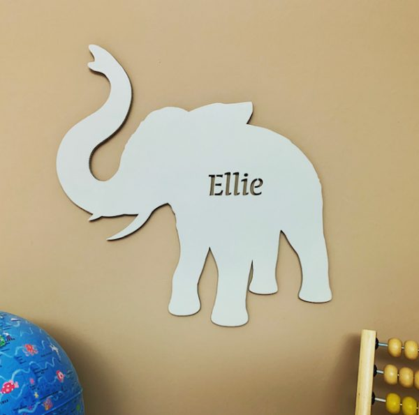 Large Elephant Personalised Name Sign