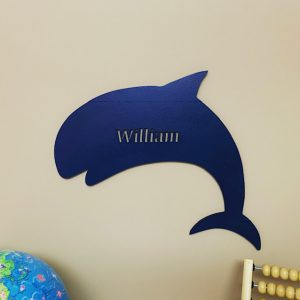 Large Whale Personalised Name Sign