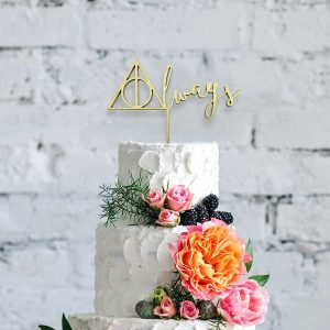 Always Wooden Cake Topper