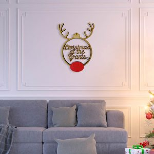 Rudolph Script Family Hanging Sign Extra Large