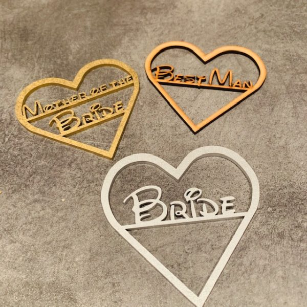 Heart Fairytale Wooden Place Name