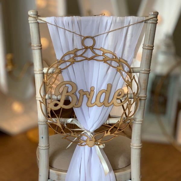 Personalised Pair of Decorative Script Chair Hangers
