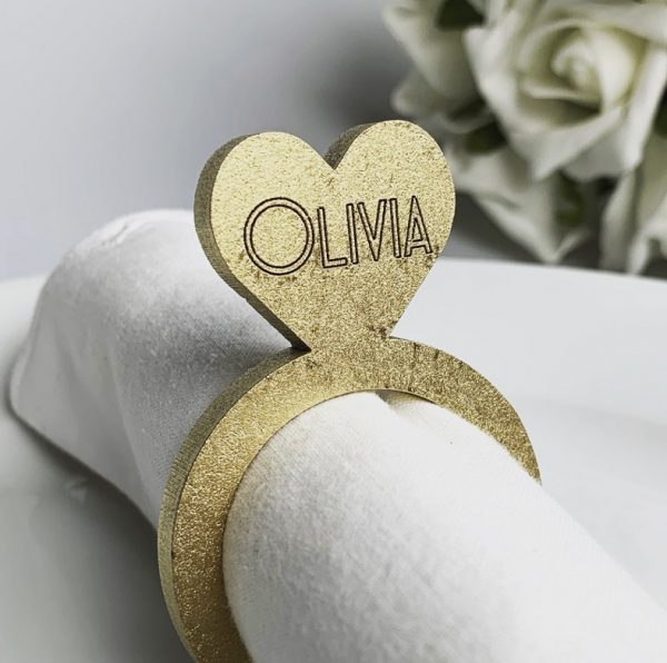 Wooden Personalised Napkin Holder
