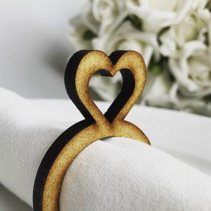 Wooden Heart Napkin Holder