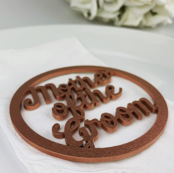 Ring Script Style Wooden Place Name