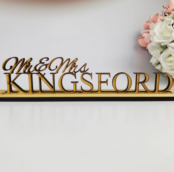 Personalised Classic Standing *Mr & Mrs Sign