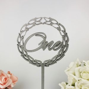 Decorative Romantic Script Table Numbers on Stake