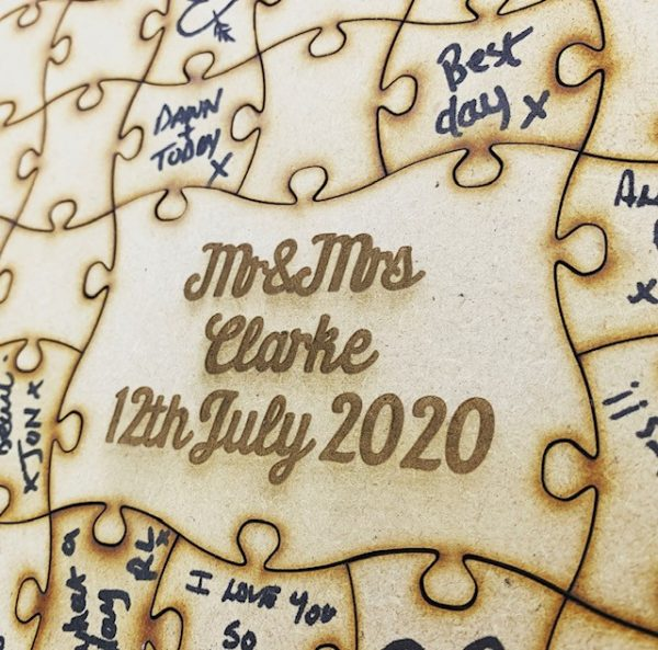 Personalised Heart Guestbook Puzzle