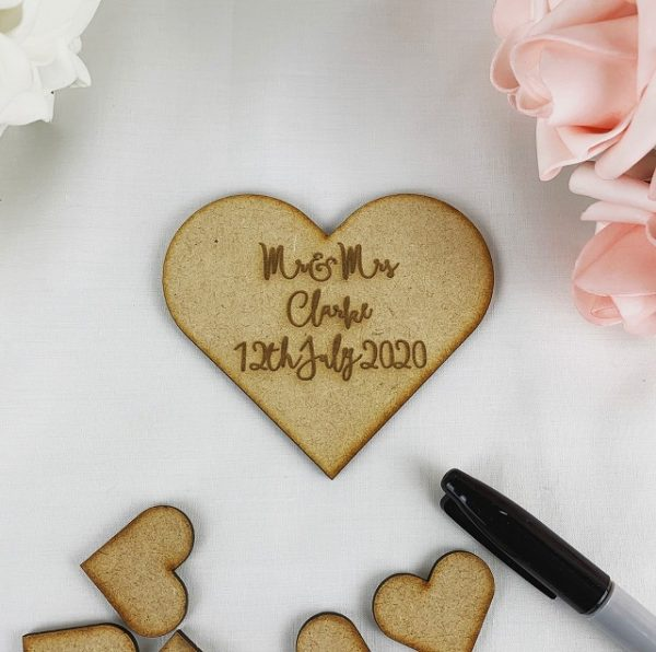 Personalised Heart Guestbook Dropbox