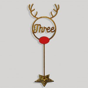 Rudolph Script Table Numbers on Stake