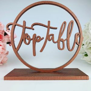 Ring Standing Boho Table Number