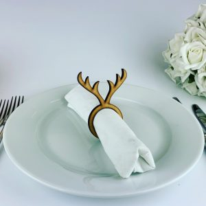 Wooden Antler Christmas Napkin holder