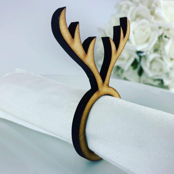 Wooden Antler Christmas Napkin holder