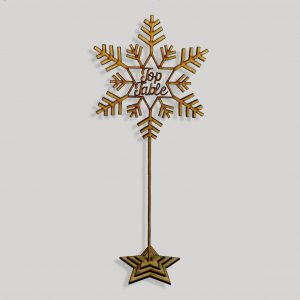 Snowflake Script Table Numbers on Stake