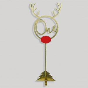 Rudolph Boho Table Numbers on Stake