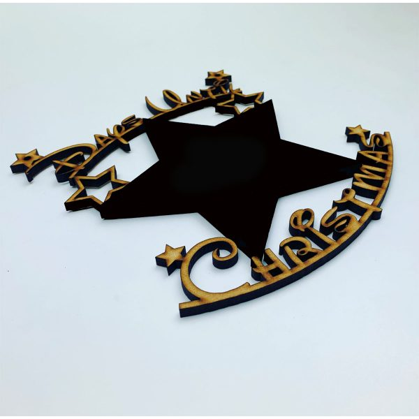 Days Until Christmas Star Chalkboard Hanger