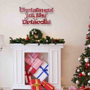 Hanging Personalised Christmas at the… Sign