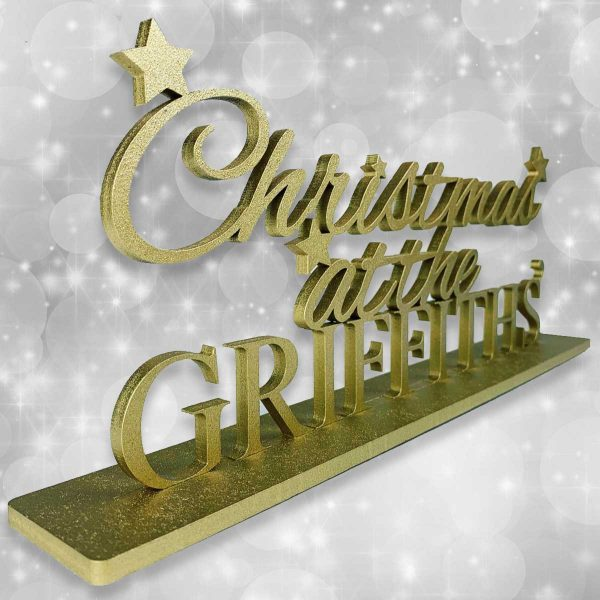 Personalised Standing Christmas At The….