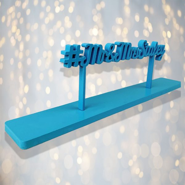 Personalised Standing HashTag Sign