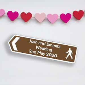 GPS Coorrdinates & Wedding Road Sign Bundle