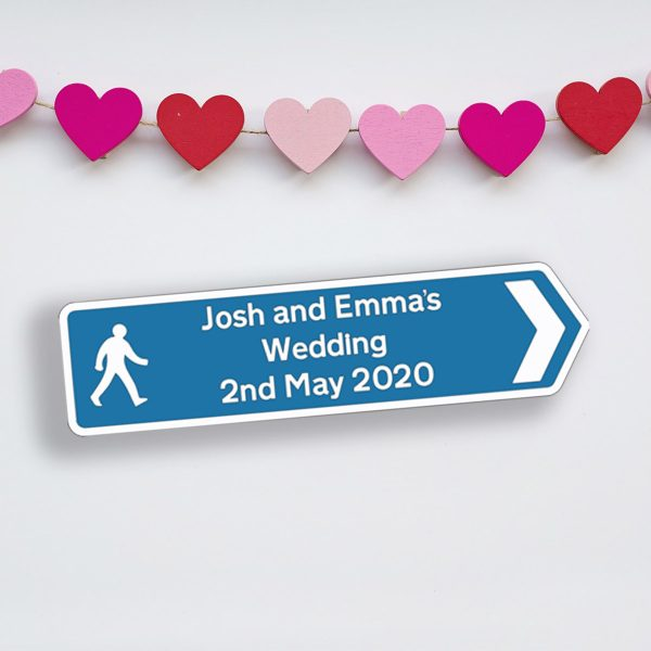 Personalised Hanging Wedding Road Sign