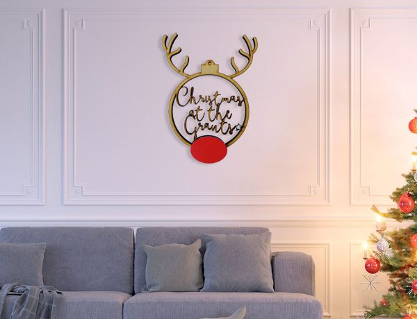 Rudolph Boho Family Hanging Sign Extra Large