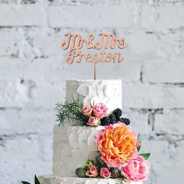 Script Style – Names, Table Name / Numbers & Cake Topper Wedding Bundle