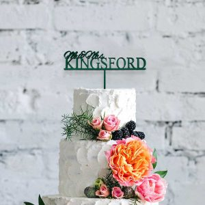 Classic Wooden Cake Topper