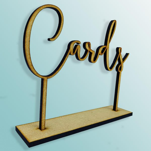 Standing Cards Sign