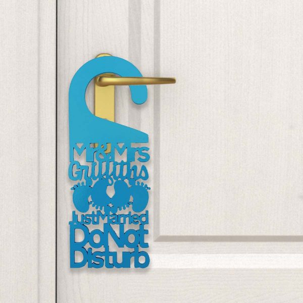 Do Not Disturb Mr & Mrs* Feet Door Sign