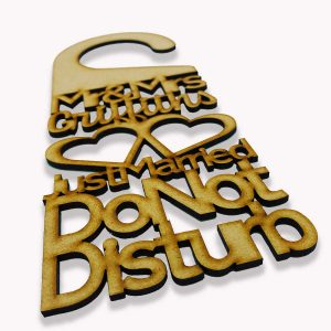 Do Not Disturb Mr & Mrs* Hearts Door Sign