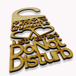 Do Not Disturb Mr & Mrs* Hearts Door Sign