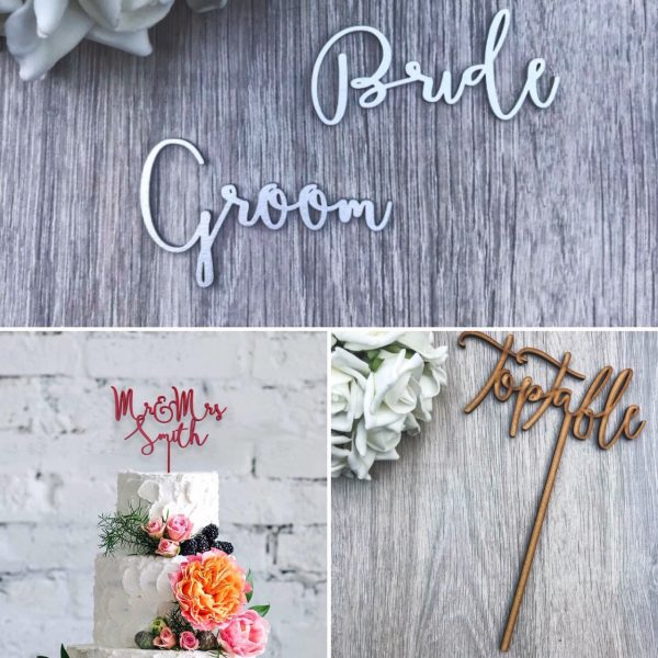 Boho Style – Names, Table Names / Numbers & Cake Topper Wedding Bundle