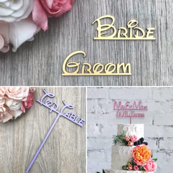 Fairytale Style – Names, Table Names / Numbers & Cake Topper Wedding Bundle
