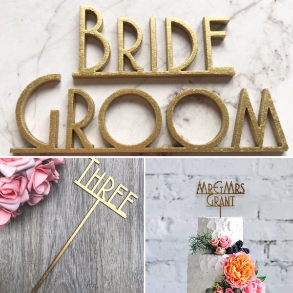 Gatsby Style – Names, Table Names /  Numbers & Cake Topper Wedding Bundle