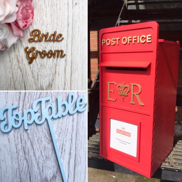 Painted Postbox, Place Names & Table Names / Numbers Script Style Wedding Bundle