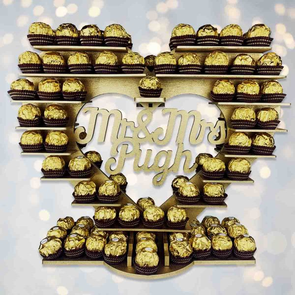 Personalised Script Ferrero Rocher Heart
