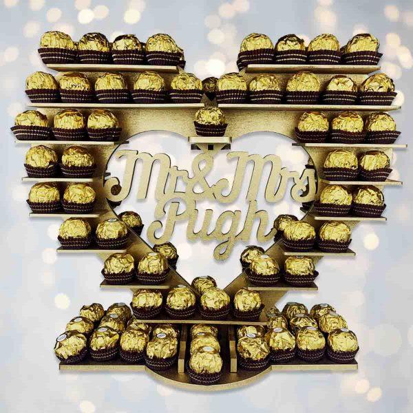 Personalised Script Ferrero Rocher Heart