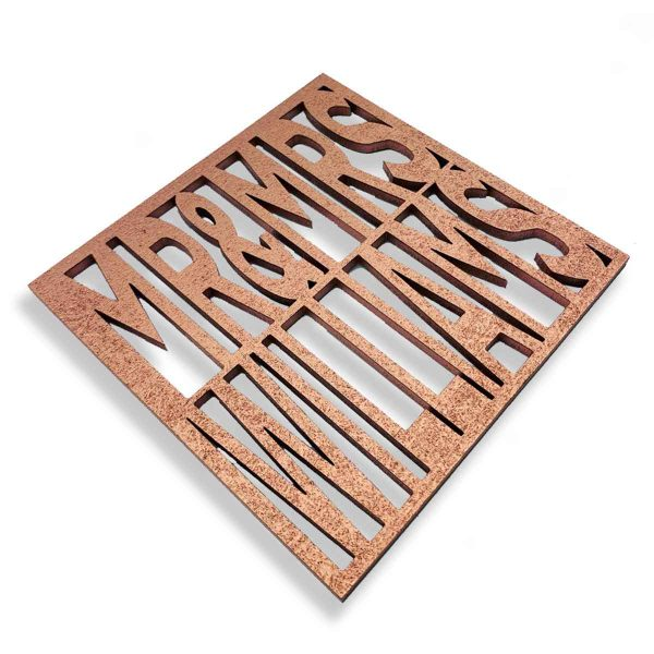 Personalised Wooden Drinks Coaster/Place Name