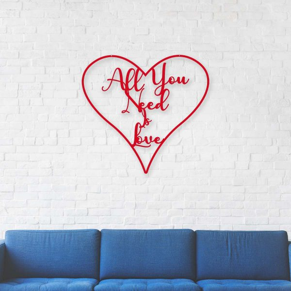 All You Need Is Love Heart Hanging Sign