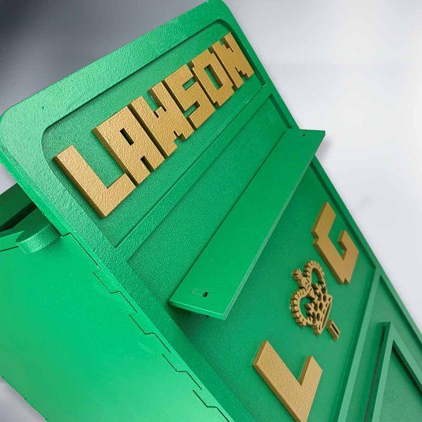 Blocks Birthday Wooden Post Box