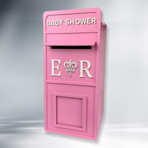 Assembled Painted Baby Shower Wooden Post Box