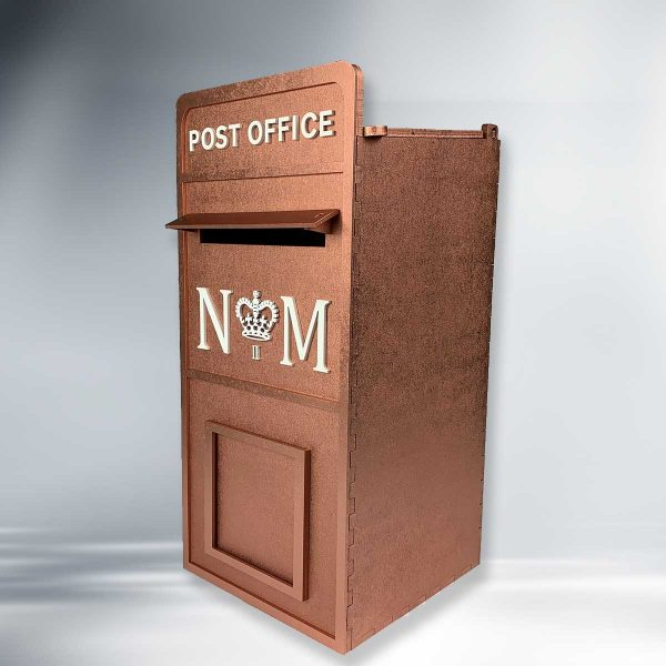Assembled Painted Wooden Post Box