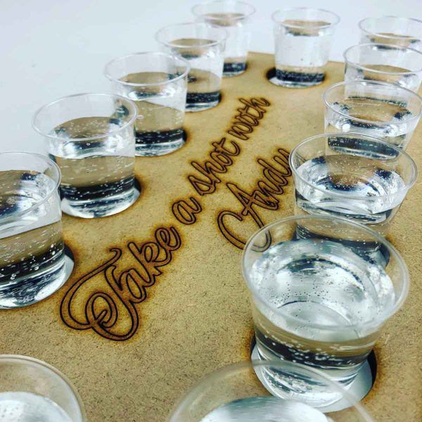 Personalised Shot Glass Paddle