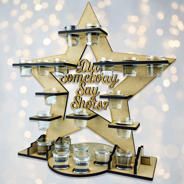 Personalised Star Shot Glass Stand
