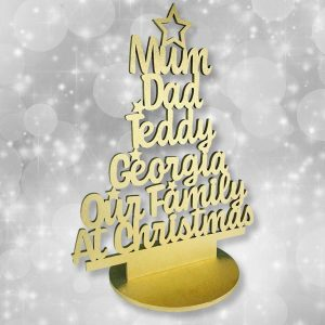 Personalised Our Family At Christmas Tree