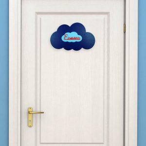 Personalised Wooden Cloud Door Name